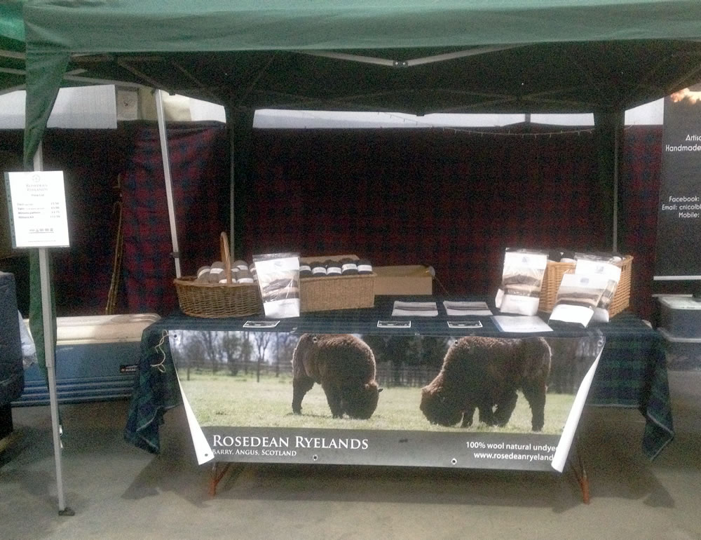 Stand at Angus Farmers' Market